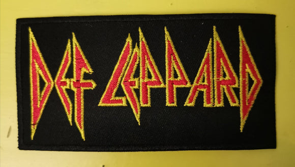 Patches Def Leppard Embroidered Iron on Patch Kwaito Koeksister
