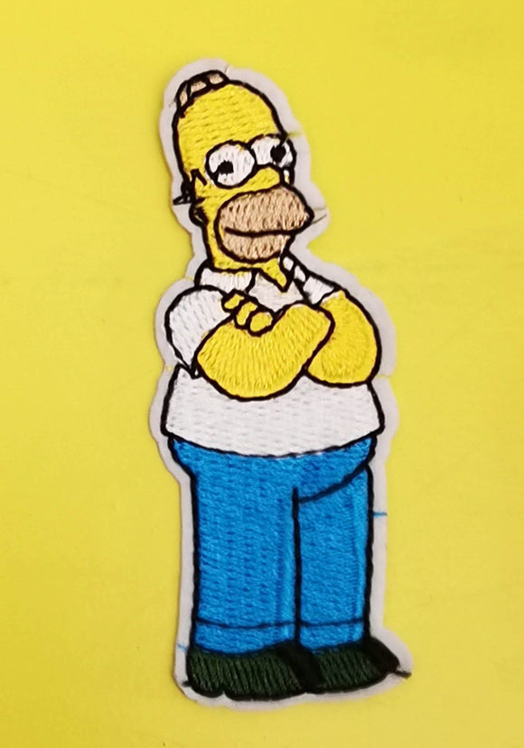 Homer Simpson Embroidered Iron on Patch Patches Kwaitokoeksister