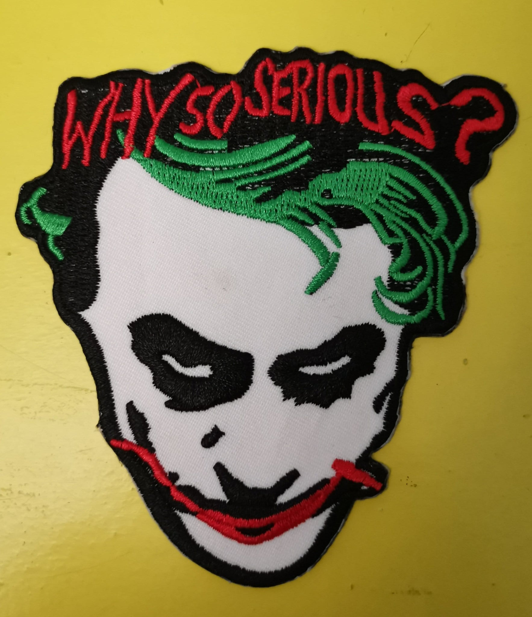 Joker big Embroidered Iron on Patch