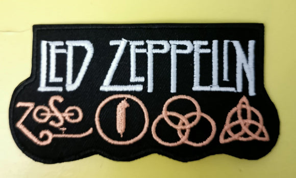 Patches Led Zeppelin 1 Embroidered Iron on Patch Kwaito Koeksister