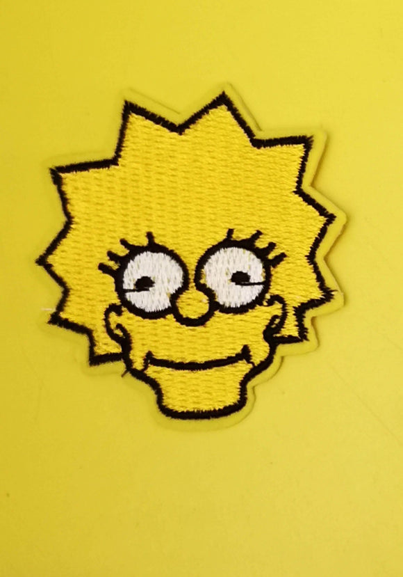 Lisa Simpson Embroidered Iron on Patch Patches Kwaitokoeksister