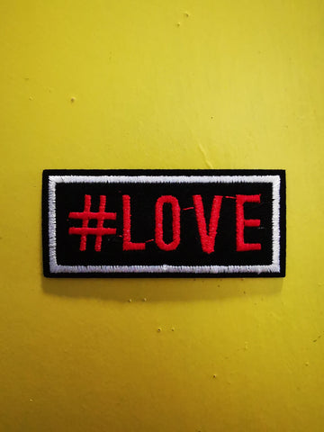 #Love Embroidered Iron on Patch