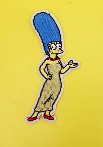 Marge Simpson Embroidered Iron on Patch