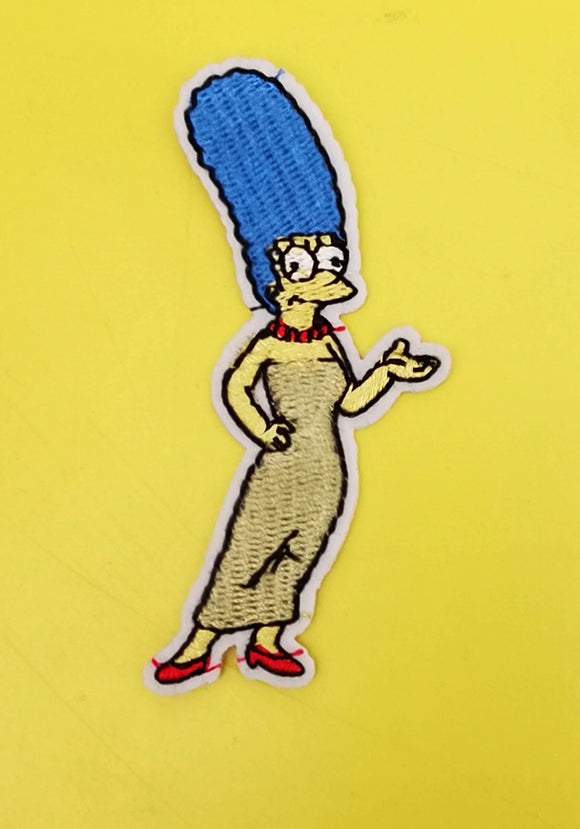 Marge Simpson Embroidered Iron on Patch Patches Kwaitokoeksister