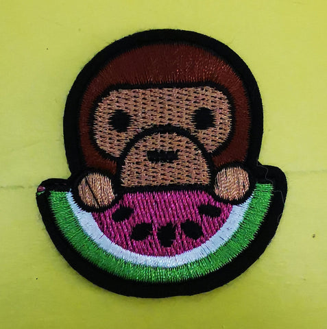 Monkey Embroidered Iron on Patch