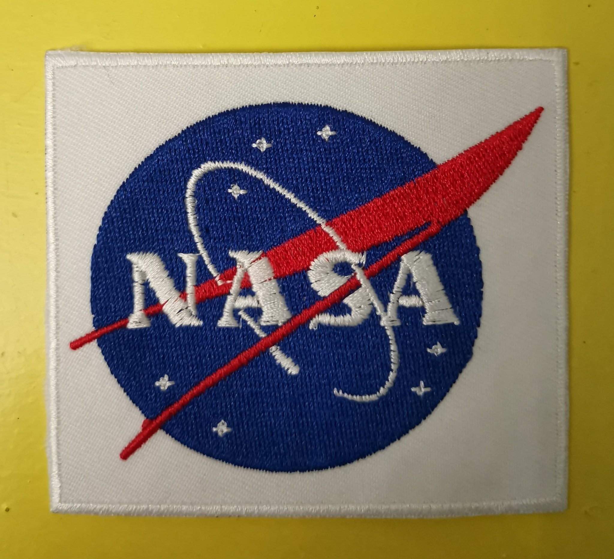 NASA White Embroidered Iron on Patch