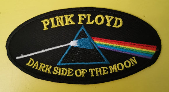 Patches Pink Floyd Oval yellow Embroidered Iron on Patch Kwaito Koeksister