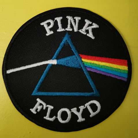 Pink Floyd round Embroidered Iron on Patch