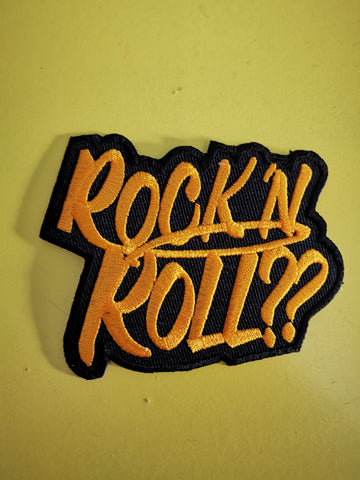 Rock 'n Roll Embroidered Iron on Patch