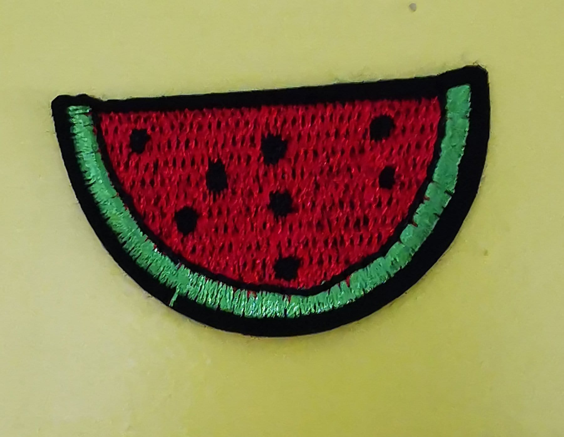 Small Watermelon Embroidered Iron on Patch