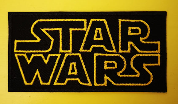 Patches Star Wars Black Embroidered Iron on Patch Kwaito Koeksister