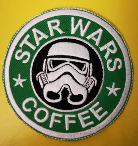 Star Wars Coffee Embroidered Iron on Patch