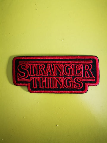 Stranger Things Black Embroidered Iron on Patch