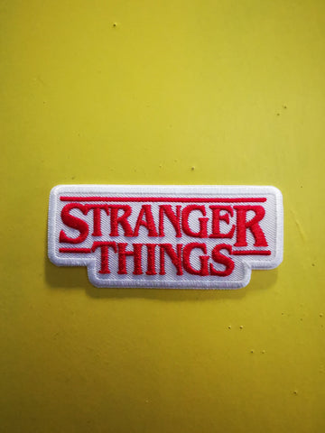 Stranger Things White Embroidered Iron on Patch
