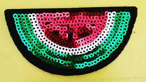 Watermelon with sequence Embroidered Iron on Patch