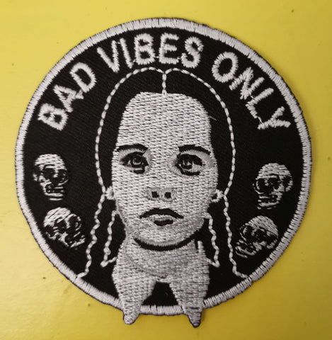 Wednesday Embroidered Iron on Patch