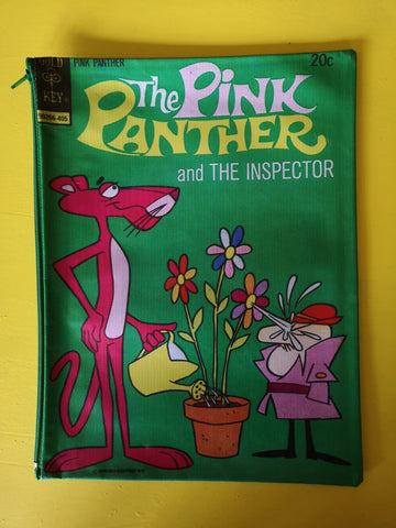 Pink Panther green Cartoon cover clutch
