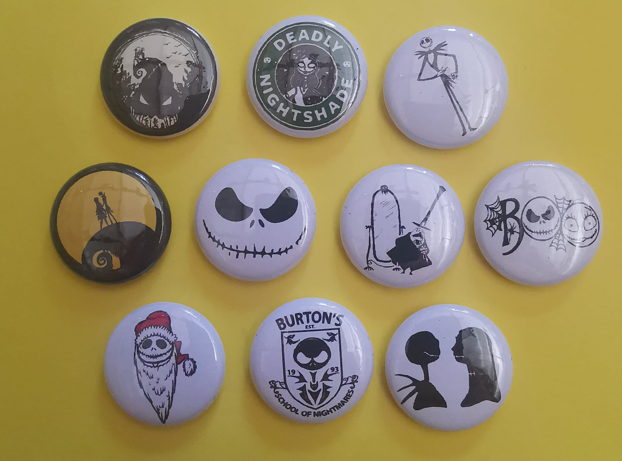 The Nightmare Before Christmas Pins Collection