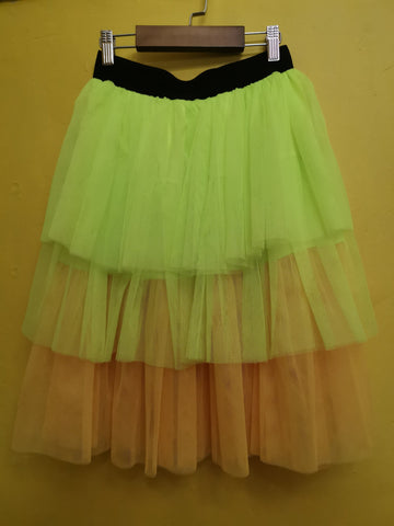 80's Tulle Skirt Lime yellow