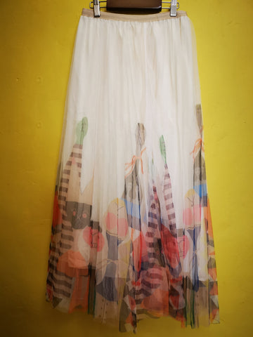 Printed Tulle Skirt 5