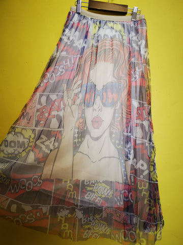 Printed Tulle Skirt 7