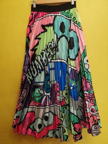 Sesame Street Cartoon Skirt Lime