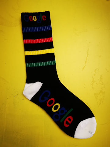 Google Black Socks