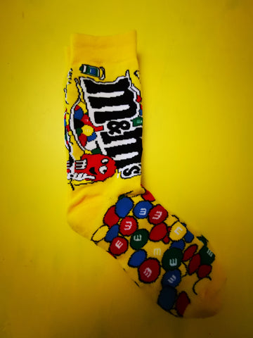 M&M Yellow Socks