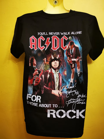 ACDC T-shirt Double sided (Never Walk Alone)