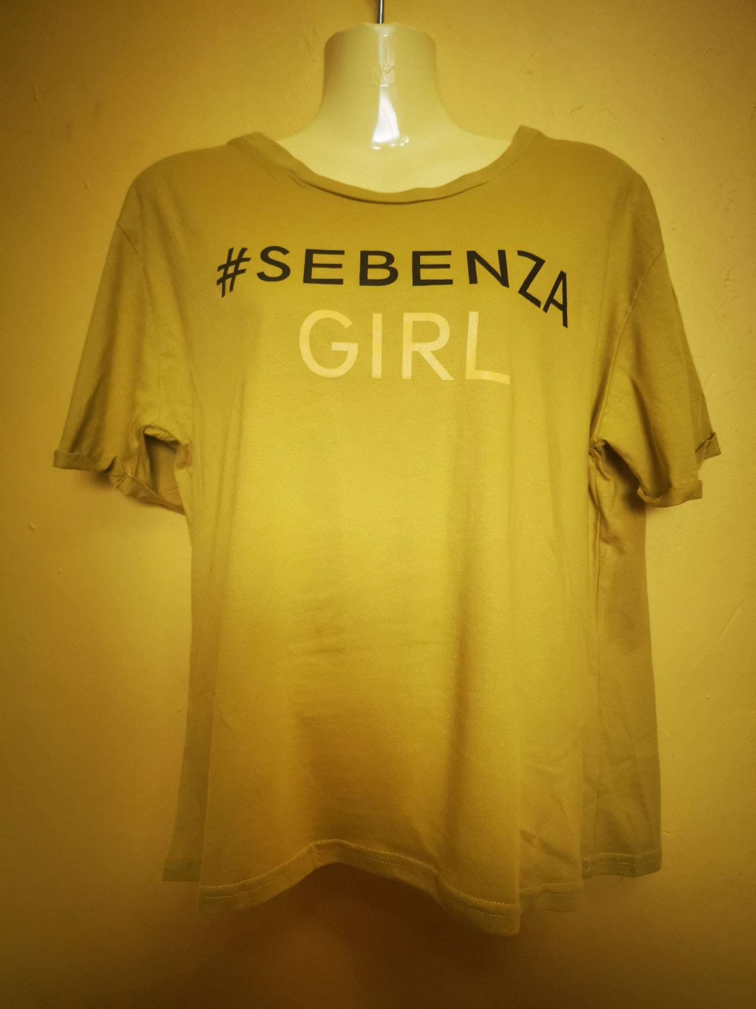 Sebenza Girl Light Mustard/Olive T-shirt