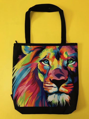 Water Repellent Lion Shopper bag