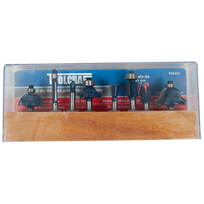 8PC ROUTER BIT SET TOOLCRAFT