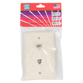TELEPHONE AND CABLE FLUSH WALL PLATE TA234