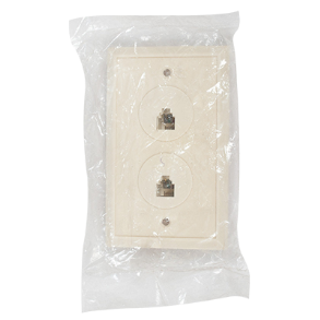 TELEPHONE DOUBLE OUTLET WALL PLATE TS 113