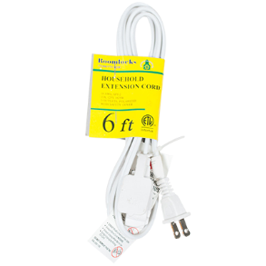 EXTENTION CORD 6FT WHITE ROOMLOCKS