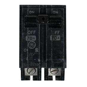70A DOUBLE POLE THQL BREAKER
