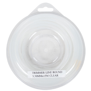 TRIMMER LINE 3.3MM X 15M ROUND CLEAR