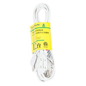 EXTENTION CORD 12 FT WHITE ELEKTRONIKS