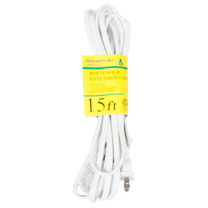 EXTENSION CORD 15FT WHITE HI TECH