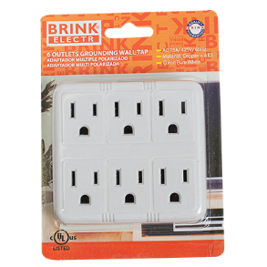 6 WAY OUTLET WALL TAP BRINK