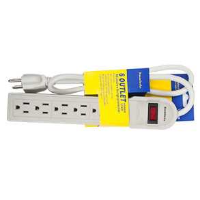 6 OUTLET IVORY POWER STRIP FIMEX