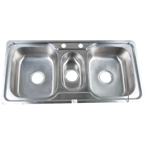 "KITCHEN SINK DOUBLE AND HALF BOWL  40 ""X 20"" X 6.5"""