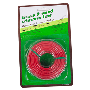 TRIMMER LINE 2.6MM X 15M ROUND RED