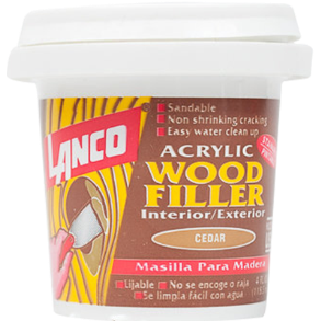 WOOD FILER WALNUT 4OZ LANCO