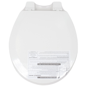 TOILET SEAT ELONGATED WHITE