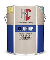 SOLID COLOR CONCRETE STAIN WATER BASED WHITE BASE GALLON