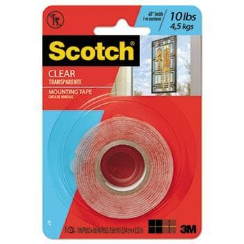 CLEAR EXTERIOR MOUNTING TAPE