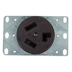 30A FLUSH TYPE PLUG RECEPTACLE (DRYER) 3 WIRE 125/250V