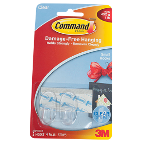 COMMAND HOOK SMALL 2PC CEAR