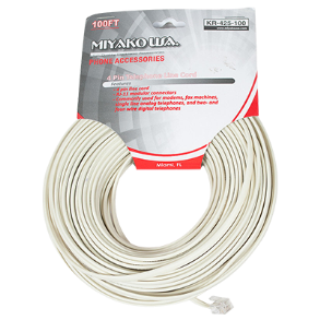 TELEPHONE CORD 100FT TE157